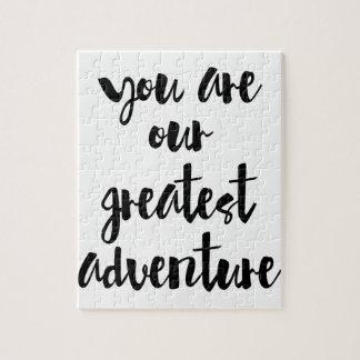 Quebra-cabeça Você é nossas grandes citações da aventura