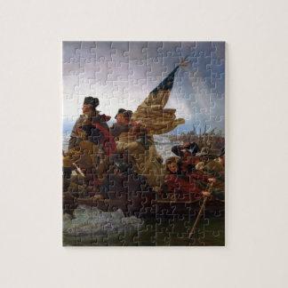 Quebra-cabeça Washington que cruza arte do Delaware - E.U. do