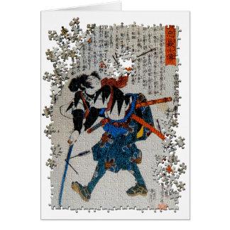 Quebra-cabeça Yoshida Sadaemon Kanesada do ronin Cartão Comemorativo