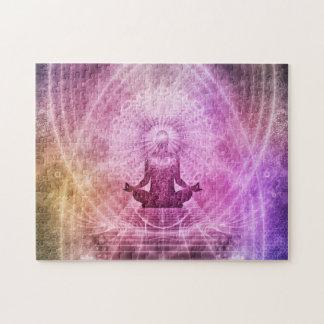Quebra-cabeça Zen espiritual da meditação da ioga colorido