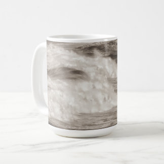 Quebra destinada das ondas da caneca de café