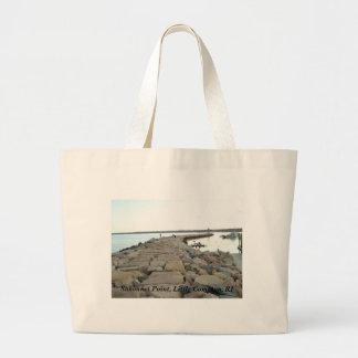 Quebra-mar do ponto de Sakonnet - Compton pequeno, Sacola Tote Jumbo