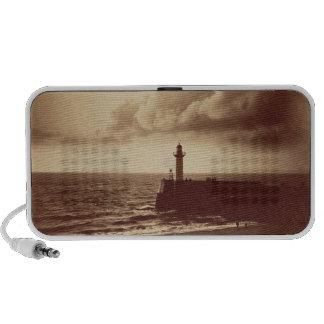 Quebra-mar em Sete c 1855 impressão do albume da Caixinhas De Som Para Mp3