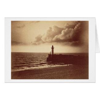 Quebra-mar em Sete c 1855 impressão do albume da Cartões