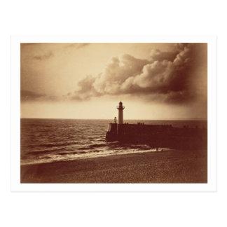 Quebra-mar em Sete, c.1855 (impressão do albume da Cartão Postal