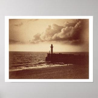 Quebra-mar em Sete c 1855 impressão do albume da