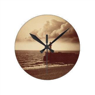 Quebra-mar em Sete, c.1855 (impressão do albume da Relógio De Parede