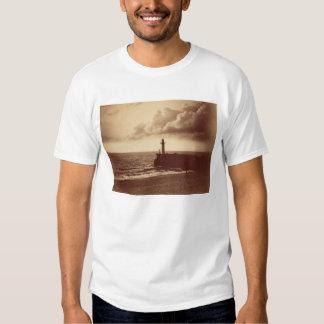 Quebra-mar em Sete, c.1855 (impressão do albume da Tshirts