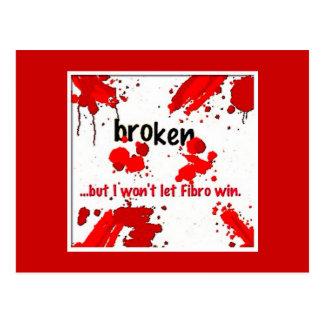 Quebrado, cartão da fibromialgia