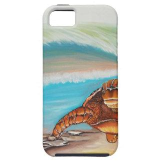 Quebrando a tartaruga de mar da crista da água capa tough para iPhone 5