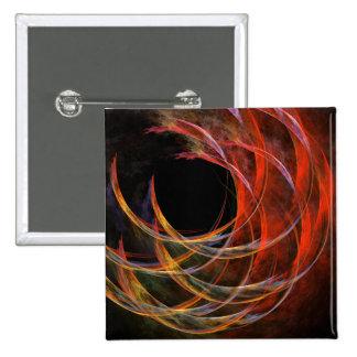 Quebrando o botão da arte abstracta do círculo (qu bóton quadrado 5.08cm