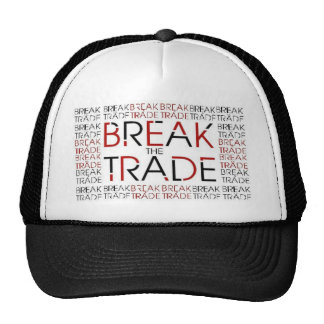 Quebre o chapéu de comércio boné