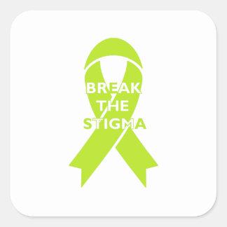 Quebre o estigma - etiqueta quadrada