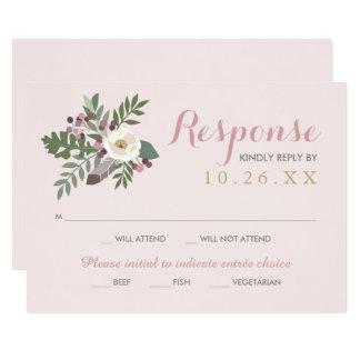 Queda Boho do cartão | da resposta do casamento Convite 8.89 X 12.7cm