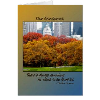 Queda da acção de graças no Central Park para avós Cartão Comemorativo