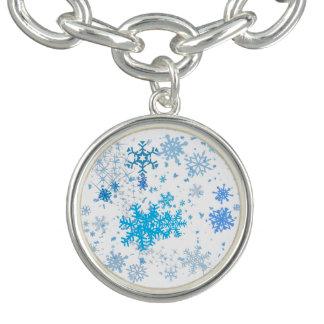 Queda de neve do Natal Charm Bracelet