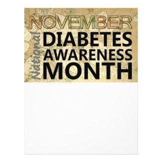 Queda do mês da consciência do diabetes de novembr panfleto