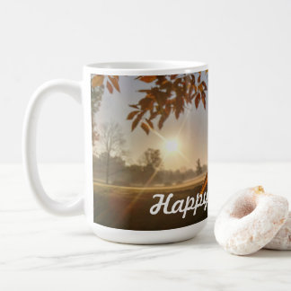 Queda feliz você caneca de café