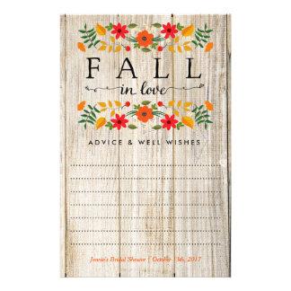 Queda no amor, cartões de madeira do conselho do