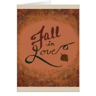 Queda no amor: vazio do cartão