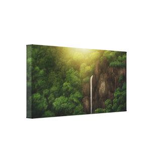 Quedas da selva - impressão das canvas impressão em tela canvas