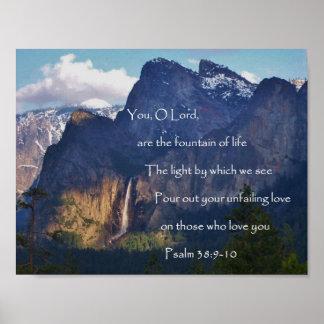 Quedas de Bridalveil, salmo 38 Poster