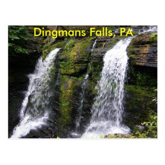 Quedas de Dingmans, cartão do PA Cartão Postal