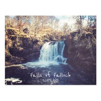 Quedas de Falloch - cartão de Scotland  