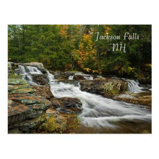 Quedas de Jackson, cartão   do NH Cartão Postal