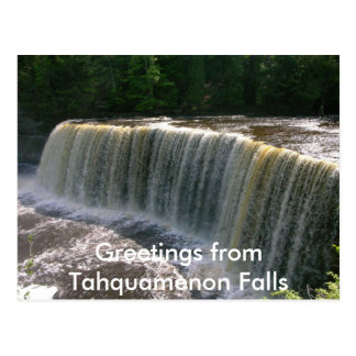 Quedas de Tahquamenon Cartão Postal