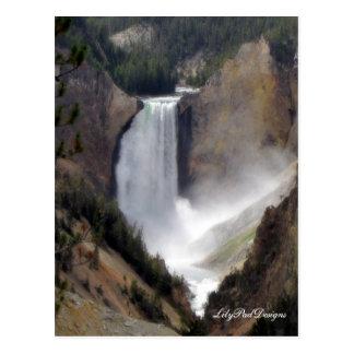 Quedas de Yellowstone da cena do cartão