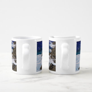 Quedas litorais conjunto de caneca de café