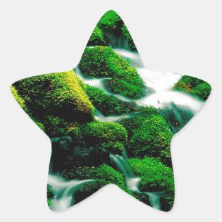 Quedas Oregon do espaço livre da água Adesivo Em Forma De Estrela