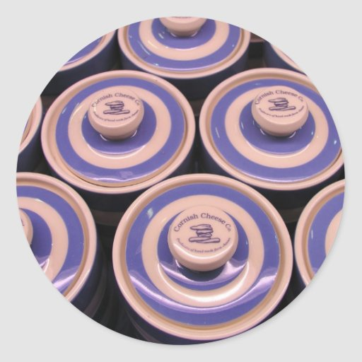 Queijo azul Cornish Adesivo Redondo
