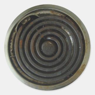 Queimador elétrico do fogão adesivo