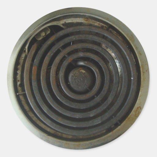 Queimador elétrico do fogão adesivo redondo