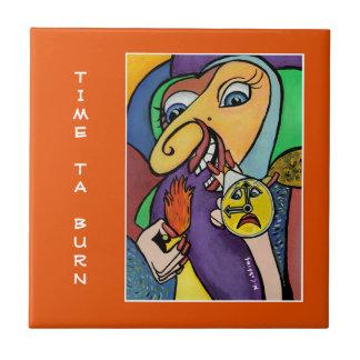 Queimadura do tempo Ta - laranja - partes do tempo