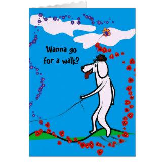 Queira ir para um cartão da caminhada