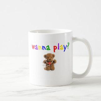 Queira jogar? caneca de café