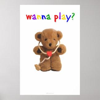 """""""Queira jogar?"""" Poster"""