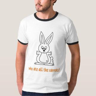 Quem comeu todas as cenouras? camiseta