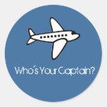 Quem é seu capitão? Etiqueta Adesivos