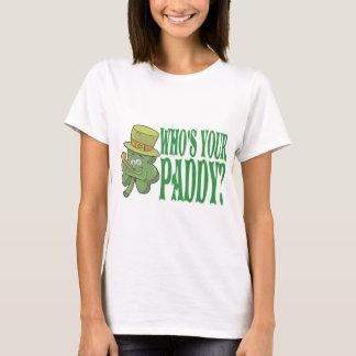 Quem é seu trevo da almofada camiseta