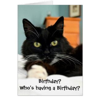 Quem está tendo um aniversário? Cartão