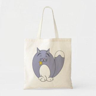 Quem? … Meow? saco (mudo) Sacola Tote Budget