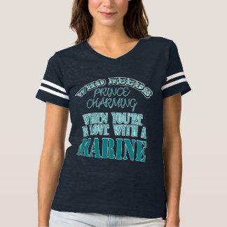 Quem precisa o príncipe Encantador-Marinho Camiseta