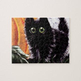 Quem quebra-cabeça do gato de Dat Scaredy