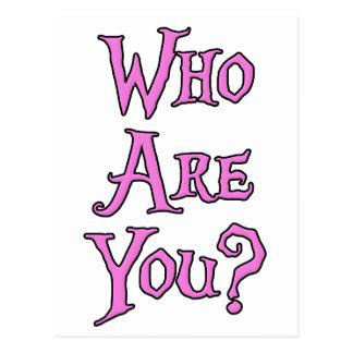 Quem são você? cartão postal