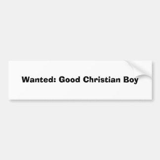 Querido: Bom menino cristão Adesivo Para Carro