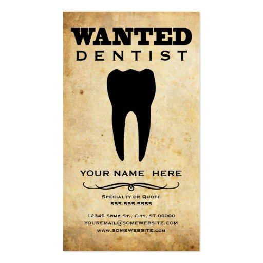 querido: dentista modelo de cartões de visita